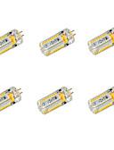 halpa Hääbolerot-YWXLIGHT® 6kpl 650 lm G4 LED-maissilamput T 72 ledit SMD 3014 Lämmin valkoinen Kylmä valkoinen DC 24V AC 24V AC 12V DC 12V