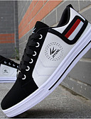 cheap Cocktail Dresses-Men's Shoes Leatherette Fall Vulcanized Shoes Comfort for Casual White Red Yellow