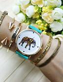 cheap Bracelet Watches-Women's Quartz Bracelet Watch Casual Watch PU Band Charm Fashion Blue Red Pink