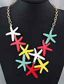 رخيصةأون فساتين الاشبينات-للمرأة القلائد بيان - نجم البحر أوروبي, موضة لون الشاشة قلادة مجوهرات من أجل