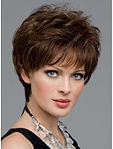 cheap Mother of the Bride Dresses-women nice short natural straight wig stylish lady brown synthetic hair wigs