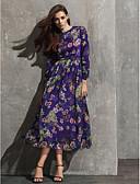 رخيصةأون هدايا بنات الزهور-A-الخط جوهرة طول الساق شيفون ستايل المشاهير حفلة رسمية فستان مع نموذج / طباعة بواسطة TS Couture®