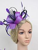 cheap Women's Nightwear-Feather / Net / Satin Fascinators with 1 Wedding / Special Occasion Headpiece