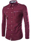 billige Skjørt-Bomull Klassisk krage Skjorte Herre - Ensfarget, Nagle Gatemote