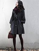 cheap Women's Coats & Trench Coats-Women's Street chic Cotton Coat - Solid Colored, Modern Style