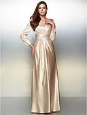 baratos Vestidos de Noite-Linha A Decote V Longo Charmeuse Evento Formal Vestido com Cruzado de TS Couture®