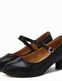 abordables Vestidos de cóctel-Mujer Zapatos de Baile Moderno / Salón Semicuero Tacones Alto Hebilla Tacón Bajo No Personalizables Zapatos de baile Rojo / Plata / Oro