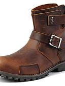 hesapli Kadın Gecelikleri-Erkek Ayakkabı Tüylü Sonbahar Kış Combat Botları Kovboy / Western Çizmeleri Rahat Çizmeler 15.24-20.32cm 20.32-25.4cm Yarı-Diz Boyu