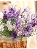رخيصةأون زينة الكيك-زهور اصطناعية 1 فرع النمط الرعوي أزرق فاتح أزهار الطاولة