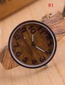 abordables Relojes de Hombre-Hombre Reloj de Pulsera Cuarzo 30 m Reloj Casual PU Banda Analógico Encanto Madera Múltiples Colores - # 4 # 5 # 6
