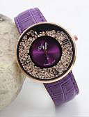 baratos Quartz-Mulheres Relógio de Pulso Relógio Casual Couro Banda Fashion / Elegante Preta / Branco / Vermelho / Um ano / SSUO LR626