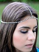 tanie Sukienki-Damskie Vintage / Impreza / Praca Łańcuch głowy - Stop, Solidne kolory / Śłodkie / Srebrny