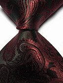 cheap Men's Ties & Bow Ties-Men's Party / Work / Basic Polyester Necktie - Solid Colored Jacquard / Cute / Multi-color
