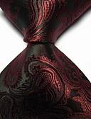 olcso Férfi nyakkendők és csokornyakkendők-Férfi Egyszínű Jacquardszövet Party / Munkahelyi / Alap - Nyakkendő