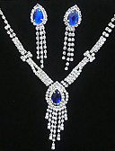 cheap Corsets-Crystal Tassel Jewelry Set - Cubic Zirconia, Silver Plated Tassel, Party, Fashion Include Yellow / Blue For Party / Special Occasion / Anniversary / Earrings / Necklace