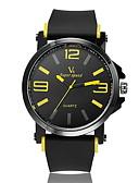 cheap Men's Watches-V6 Men's Quartz Wrist Watch Hot Sale Rubber Band Charm Black