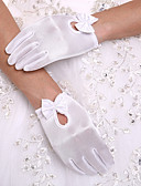 cheap Socks & Hosiery-Spandex Wrist Length Glove Party / Evening Gloves / Flower Girl Gloves With Bowknot / Pearl