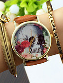 cheap Fashion Watches-Women's Quartz Bracelet Watch Chronograph PU Band Charm Fashion Black White Brown Green Pink