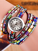 cheap Quartz Watches-Women's Ladies Bracelet Watch Quartz Colorful Leather Band Analog Sparkle Bohemian Fashion Black / White / Red - Black Coffee Red One Year Battery Life / Tianqiu 377