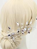 cheap Wedding Veils-Imitation Pearl / Rhinestone / Alloy Hair Pin with 1 Wedding / Special Occasion Headpiece