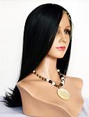 preiswerte Mode für Mädchen-Synthetische Lace Front Perücken Glatt Mit Pony Synthetische Haare Natürlicher Haaransatz Perücke Damen Kurz / Medium / Lang Spitzenfront