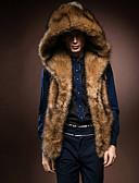 cheap Men's Jackets & Coats-Men's Daily Winter Regular Fur Coat, Solid Hoodie