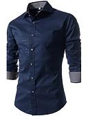 billige Herreskjorter-Bomull Tynn Store størrelser Skjorte Herre - Ruter