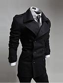hesapli Erkek Kabanlar-Erkek Modern Stil Solid Klasik & Zamansız Şık & Modern Kaban
