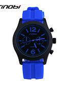 hesapli Spor Saat-SINOBI Erkek Spor Saat Bilek Saati Quartz Silikon Mavi 30 m Su Resisdansı Spor Saat Analog İhtişam Klasik - Kırmzı Mavi