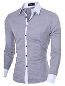 cheap Men's Blazers & Suits-Men's Business Casual Cotton Slim Shirt - Solid Colored Classic Collar