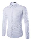 preiswerte Herrenhemden-Herrn Solide Übergrössen Baumwolle Hemd Schlank