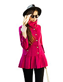 cheap Women's Outerwear-Women's Chic & Modern Coat-Solid Colored,Modern Style