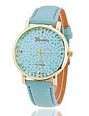 cheap Fashion Watches-Xu™ Women's Quartz Wrist Watch Hollow Engraving PU Band Flower Fashion Black White Green Pink Beige