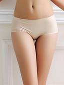 baratos Camisolas e Pijamas Femininos-Mulheres Sem Costura Estilo Cueca Sólido Cintura Baixa
