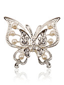 cheap Bracelet Watches-Women's Brooches - Imitation Pearl, Rhinestone, Silver Plated Stylish, Fashion Brooch For Wedding / Party / Dailywear