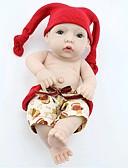 povoljno Maske za mobitele-NPK DOLL Autentične bebe Beba Cijeli silikon tijela / Silikon / Vinil - vjeran, Ručni primijenjeni trepavice, Uvučene i zapečene nokte