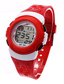 cheap Quartz Watches-Kid's Sport Watch / Fashion Watch / Digital Watch Japanese Alarm / Calendar / date / day / Chronograph Plastic Band Cool Black / Blue / Red / LCD / One Year