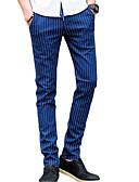 זול תחתוני גברים אקזוטיים-בגדי ריקוד גברים סגנון רחוב כותנה צ'ינו מכנסיים - פסים שחור