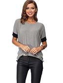 halpa T-paita-Naisten Puuvilla Rypytetty Color Block T-paita