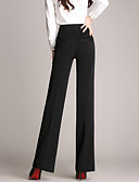 cheap Women's Pants-Women's Plus Size Straight / Business Pants - Solid Colored High Rise / Work