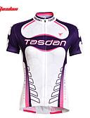 halpa Muotikellot-TASDAN Naisten Lyhythihainen Pyöräily jersey Pyörä Jersey / Vaatesetit, Nopea kuivuminen, Ultraviolettisäteilyn kestävä, Hengittävä