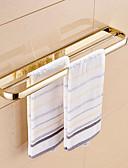 hesapli Gelin Şalları-Havlu Çubuğu Çağdaş Pirinç 1 parça - Otel banyo 2 kulplu çubuk
