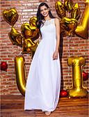preiswerte Abendkleider-Eng anliegend Illusionsausschnitt Knöchel-Länge Chiffon / Spitze Abiball / Formeller Abend Kleid mit Spitze durch TS Couture®