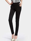 baratos Calças Femininas-Mulheres Tamanhos Grandes Justas / Skinny / Jeans Calças - Sólido
