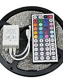 baratos Camisas Masculinas-5m Faixas de Luzes RGB 300 LEDs 5050 SMD RGB Controlo Remoto / Cortável / Auto-Adesivo 12 V / Cores Variáveis
