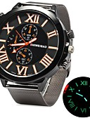 cheap Leather Band Watches-Men's Wrist Watch Hot Sale Stainless Steel Band Charm Silver
