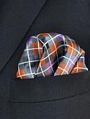 זול עניבות ועניבות פרפר לגברים-עניבת צווארון - קשת משובץ דמקה סרוג חוטי זהורית בסיסי עבודה בגדי ריקוד גברים