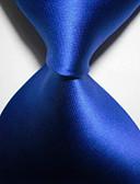olcso Férfi kiegészítők-Férfi Kreatív Stílusos Luxus Egyszínű Klasszikus Party Esküvő - Nyakkendő
