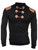 voordelige Herenhoodies & Sweatshirts-Heren Lange mouw Slank Sweatshirt Effen