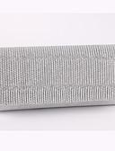 billige Kjoler-Dame Tasker polyester Aftentaske Draperet Guld / Sort / Sølv / Bryllup tasker / Bryllup tasker